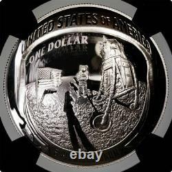 2019-P Apollo 11 1oz Silver Commemorative Dollar Charlie Duke Signature PF70UCAM