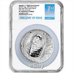 2019-P Proof $1 Apollo 11 50th Ann 5oz. Silver Dollar NGC PF70UC FDOI First Labe