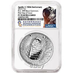 2019-P Proof $1 Apollo 11 50th Ann Silver Dollar NGC PF70UC FDI ASF Label