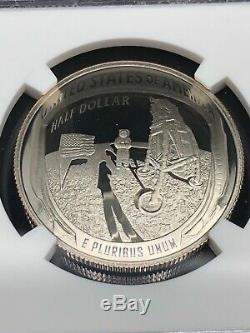2019-S 50C 2-Coin Kennedy Half Dollar US Mint Set Apollo 11 NGC PF 70