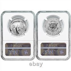 2019-S 50c Apollo 11 50th Ann. Half Dollar 2pc. Set NGC PF70 FDI First Label