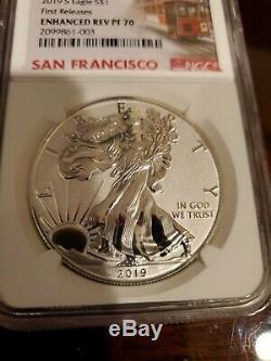 2019 S American Eagle Enhanced Reverse Proof Silver Dollar Ngc Pf70