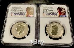 2019 S Apollo 11 50th Ann Half Dollar Set W Reverse Proof Kennedy NGC PF70 ER