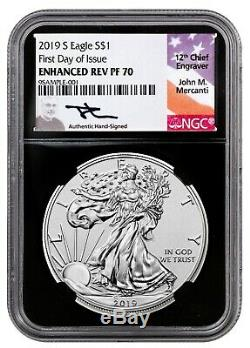 2019-W Reverse Proof $1 American Silver Eagle NGC PF70 FDI First Label Pride of