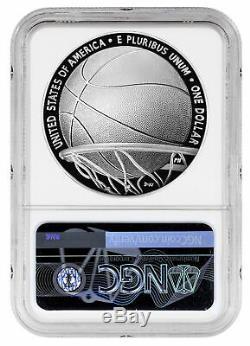 2020 P $1 Basketball Hall of Fame Silver Dollar Proof Coin NGC PF70 FDI PRESALE