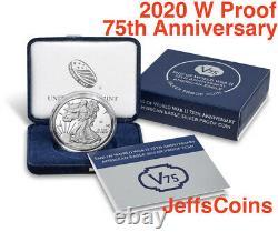2020 W End of World War II 75th Anniversary Privy V75 Silver Eagle 20XF NGC PF69