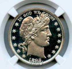 Amazing 1898 Barber Half Dollar Proof Ngc 67 Star Cameo Liquid Ice Fields Pop 3