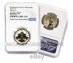 First 4 American Innovation Reverse Proof FIRST DAY OF RELEASE 4-Coin NGC 70