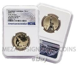 First 5 American Innovation Reverse Proof FIRST DAY OF RELEASE 5-Coin NGC 70