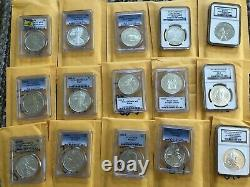 Lot of 1921 ms65 ms70 PR Morgan Silver Dollar, 2016 US Mint proof Eagle coin set
