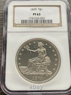M13522- 1879 Proof Trade Dollar Ngc Pr63