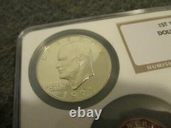 NGC 1st YEAR ISSUE DOLLAR COLLECTION PROOF SET (5-COINS)