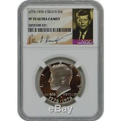 1776-1976 S Kennedy Half Dollar En Argent Épreuve Numismatique Coin Ngc Pf70 Ultra Cameo Pop 2