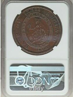 1804 Angleterre George III Cuivre Preuve Banque Dollar 5 Shillings Ngc Pf-58