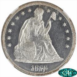 1866 Assis Liberty Dollar Proof Ngc Et Cac Pr62 Cameo Avec Motto Variety