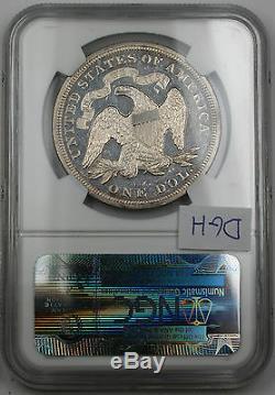 1868 Assis Liberté Silver Dollar, Ngc Proof Détails (business Coin Grève) Dgh