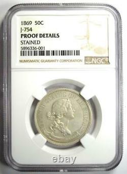 1869 Proof Pattern Half Dollar 50c Coin Judd-754 Ngc Proof Details (pf / Pr)