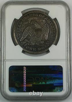 1869 Seated Liberty Silver Dollar, Ngc Détails De La Preuve Dommages Opposés