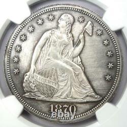 1870 Proof Sièged Liberty Silver Dollar $1 Pièce Ngc Proof Détails (pr/pf)