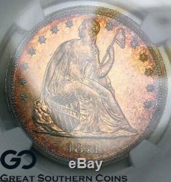 1871 Assis Dollar Liberté Proof Ngc Pr Détails 960 Pf Nettoyé Seulement Struck