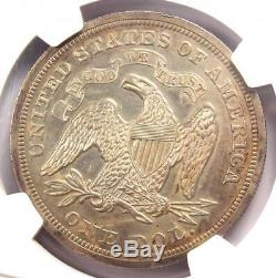 1871 Proof Assis Liberté Silver Dollar Pièce De 1 $ Ngc Pr55 (pf55) 1 600 $ Valeur