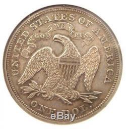 1873 Proof Assis Liberté Silver Dollar Pièce De 1 $ Ngc Pr58 (pf58) $ Valeur 1,5 Mille