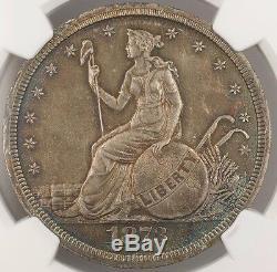 1873 Trade Dollar Us $ 1 Motif Monnaie Judd 1299 Ngc Proof Détails Ww Noir Et Blanc