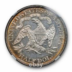 1877 Seated Liberty Half Dollar Ngc Ms 62 Pl Proof Like Beauty Pièce Unique