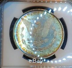 1878 8tf Ngc Ms62 Semi Pl Preuve Comme Arc-en-morgan Couleur Noir Et Blanc! 8 Plumes De La Queue