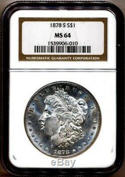 1878-s Morgan Ngc Ms-64 (pl Preuve Comme Avers) Silver Dollar San Francisco Mint