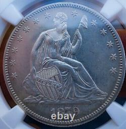 1879 Pf62 Seated Liberty Demi-dollar. Date Dure/ Preuve. 010