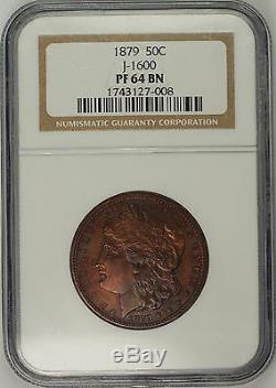 1879 Preuve Morgan Half Dollar 50c Motif Monnaie J-1600 Ngc Pf-64 Bn Rare Ww