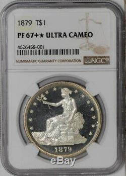 1879 Trade Dollar $ Pf67 + Ultra Cameo Ngc 938521-2