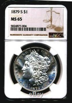 1879-s Morgan Ngc Ms-65 (pl Looks) Silver Dollar San Francisco Mint Proof Comme