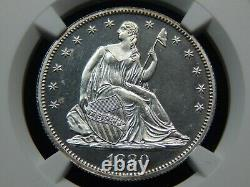 1880 50c Proof Seated Liberty Half Dollar Pf-63 Ngc, Semble Absolument Cameo! Wow