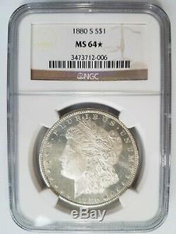 1880 S Argent Morgan Dollar Ngc Ms 64 Étoiles Profonde Miroirs Preuve Dmpl Dpl