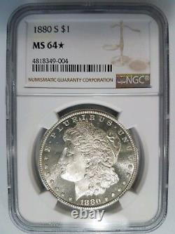 1880 S Silver Morgan Dollar Ngc Ms 64 Star Deep Mirrors Preuve