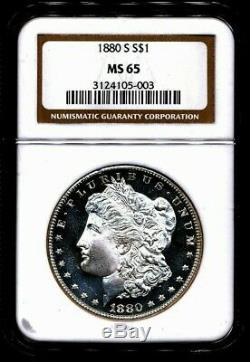 1880-s Morgan Ngc Ms-65 (pl Looks) Silver Dollar San Francisco Mint Proof Comme