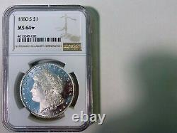 1880-s Ngc Ms64 (star) Dmpl Profonde Miroir Preuve Comme Avers Morgan Silver Dollar