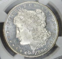 1880-s Ngc Silver Morgan Dollar Ms65pl Cac Proof-like With Cameo Contrast