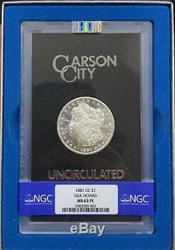 1881 CC Gsa Preuve Comme 1 $ Morgan Dollar En Argent Ngc Ms63 Pl Prooflike Bu Ms Unc