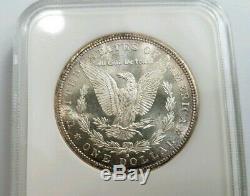 1881 S Argent Morgan Dollar Ngc Ms 64 Pl Preuve Comme Toned Savon Tonifiant Box Bar