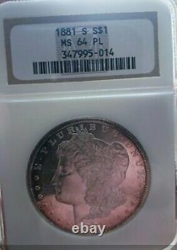 1881 S Ms64 Pl+++ Morgan Silver Dollar Preuve Comme