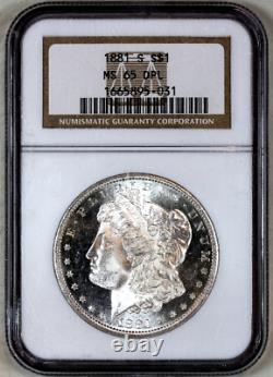 1881-s Mme65 Dpl Ngc Appel Visuel De Morgan Silver Dollar Ressemblant À Une Preuve