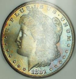 1881-s Morgan $ 1 Dollar Argent Ngc Ms-65 Semi Preuve Comme & Toned