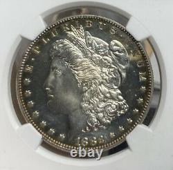 1882 Ngc/cac Pf 63 Cameo Proof Morgan Silver Dollar
