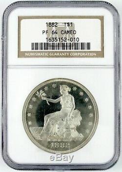 1882 U. S. Preuve Dollar Du Commerce Classé Pr64 Cameo Par Ngc
