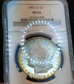 1882-cc Ngc Ms63 Semi Pl Preuve Comme Arc-en-morgan Couleur Noir Et Blanc