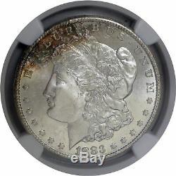 1883 CC Carson City 1 $ Morgan Silver Dollar Ngc Ms65 Pl Preuve Comme Coin Toned
