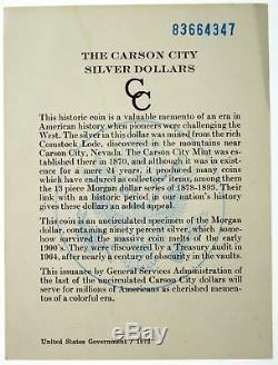1883 CC Carson City 1 $ Morgan Silver Dollar Ngc Ms65 Pl Preuve Comme Gsa Hoard